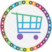 Cart button — Stock Vector