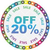 Twenty percent discount — Vector de stock