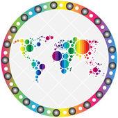 Světová mapa ikona — Stock vektor