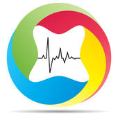 Heart pulse icon — Stock Vector