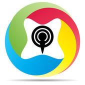 Podcast icon — Stock Vector