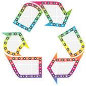 Recycling button — Stock Vector