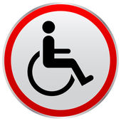 Disabled person sign — Stock Vector