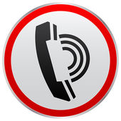 Contact button — Stock Vector