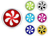 Fan buttons — Stock Vector
