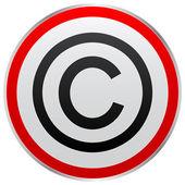版权按钮 — 图库矢量图片