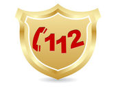 緊急電話番号 — ストックベクタ