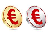Euro coins — Stock Vector