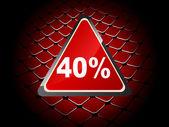 Fundo de quarenta por cento de desconto — Vetorial Stock