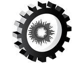Abstrakten symbol — Stockvektor