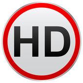 Hd button — Stock Vector