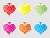 Coeur de bouton — Vecteur