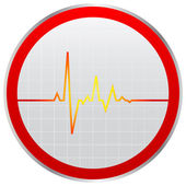 Heart pulse icon — Stock Vector