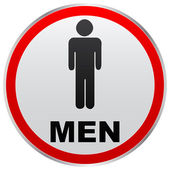 Men toilet label — Stock Vector