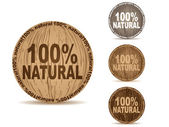 Natural buttons — Stock Vector