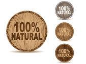 自然なボタン — ストックベクタ