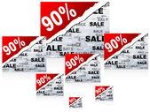 Noventa por cento de desconto — Vetorial Stock