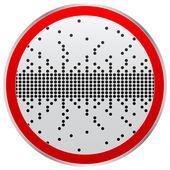 Pixel knapp — Stockvektor