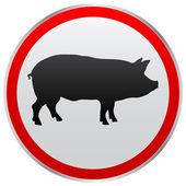 Pig button — Stock Vector