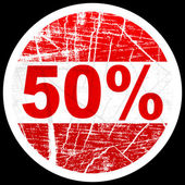 Fifty percent discount — Stock Vector