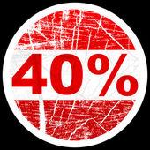 40% 割引 — ストックベクタ