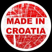 Hergestellt in Kroatien — Stockvektor