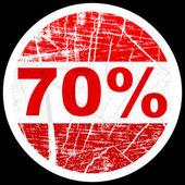 Setenta por cento de desconto — Vetorial Stock