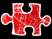 Puzzle icon — Stock Vector
