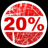 Twenty forty percent discount — Stock Vector