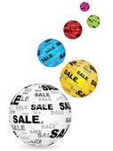 Sale balls background — Stock Vector