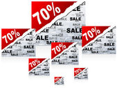 Seventy percent discount background — Stock Vector