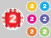 Numbers two different colors — Stockvektor