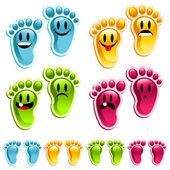 Party Happy Smiley Feet — Stock Vector