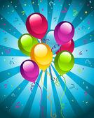 Happy Party Balloons — Stock Vector