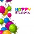 Happy Birthday Balloons Card - Stockvectorbeeld