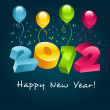 2012 Happy New Year - Stock Vector
