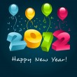 2012 Happy New Year — Imagen vectorial