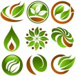 Green Eco Icons — Stock Vector #7536934