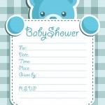 Baby Bear Shower invitation card. — Stock Vector