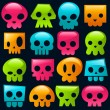 Gummy Skulls — Stock Vector #7537089