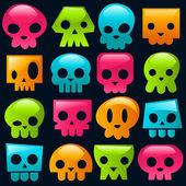 Cráneos gomosos — Vector de stock