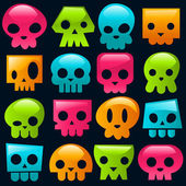 Gummy Skulls — Stock Vector