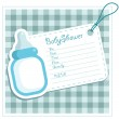 Blue Baby Bottle Invitation Card — Stock Vector #7782390