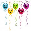 Smiley Happy Balloons — Stock Vector