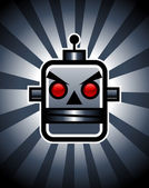 Retro Evil Robot — Stock Vector