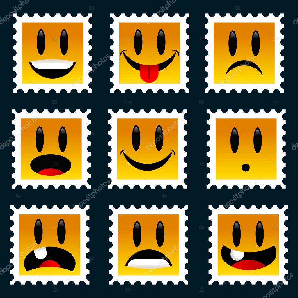 Smiley Postzegel