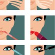 Makeup icons - Stock Vector