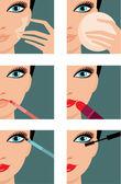 Icônes de maquillage — Vecteur