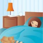 Woman cartoon sleeps — Stock Vector #7562694