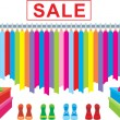 Clothes and footwear sale — Stock Vector #7566874